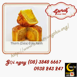 Bánh trung thu Givral Thơm (Dứa) Đậu Xanh