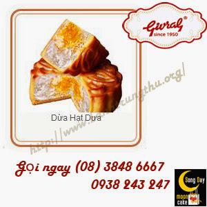 bánh trung thu givral Dừa Hạt Dưa